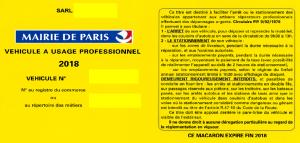 Carte De Stationnement Paris Professionnel Carte